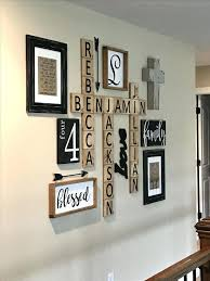pictures on wall ideas family wall decor 3 scrabble display photo wall arrangement ideas