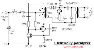 where can i circuit for electronic rat trap page 1 in the schematic above the first flyback oscillator works by cutting the current to the transformer when the current exceeds the value set by the 75mohm