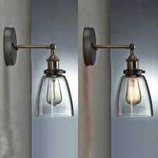 wall lights pendant wall lights vintage industrial glass ceiling light the retro modern clear taper