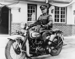 OPP Motorcycle Patrol officer Ivan Spencer, 1939   Harley davidson, Harley,  Old motorcycles
