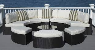 outdoor upholstered furniture. Full Size Of Patio \u0026 Outdoor, Modern Round Outdoor Sectional Sofas Black Finish Resin Wicker Upholstered Furniture S
