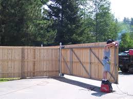 wood fence gate. Sliding Wooden Gate With A Steel Frame Wood Fence G