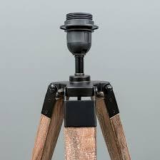 Wooden Tripod Table Lamp Design Ideas Fascinating Bases Uk Set Sets