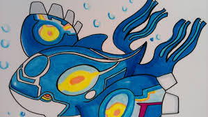 drawing legendary pokemon kyogre