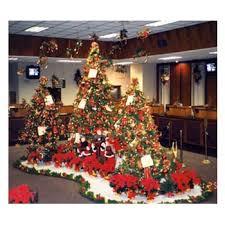 office holiday decor. Bank-lobby-holiday-decorating Office Holiday Decor