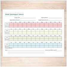 Printable Debt Snowball Sheet And Debt Payoff Plan Printable Etsy