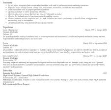 Machinist Resume Template Outside Machinist Resume Template httpresumesdesignoutside 45