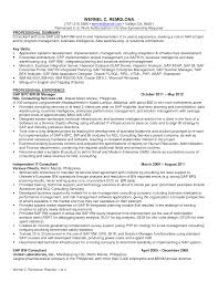 Sap End User Resume Sample Free Resume Example And Writing Download