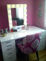 makeup tables with mirror white vanity table set sned hardwood lighted tabletop
