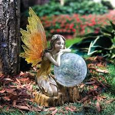 fairy garden statues. Fairy Statue For Garden Solar Outdoor Yard Decor Statues Uk .