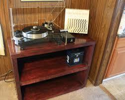 Cabinet Record Player Custom Woodworking Handmade Audio Rack Cabinet Bookshelf
