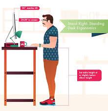 standing desk ergonomics benefits adjule