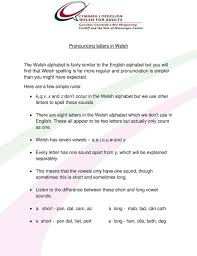 20 consonants and 6 vowels. Pronouncing Letters In Welsh Pdf Free Download