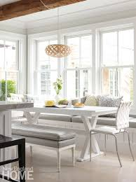 Cape Cod Shingle Style Contemporary Kitchen Eating Area
