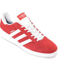 adidas red shoes. adidas busenitz red \u0026 white suede shoes i