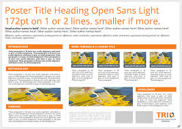 Research Poster Layouts Science Poster Templates Translational Research Institute