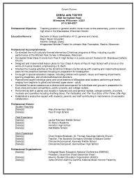 Sample Music Teacher Resume Best Resume Collection