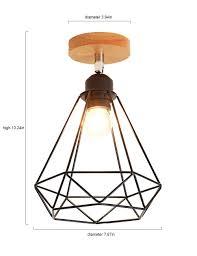 Bird Ceiling Light Fixture Retro Industrial Ceiling Light Lighting Angle Adjustable