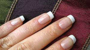 Perfect French Nails At Home DIY Tutorial - YouTube