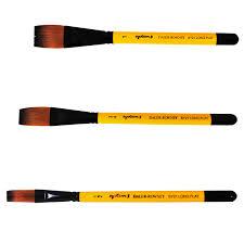 Acrylic Brush Size Chart System 3 Acrylic Brushes Daler Rowney
