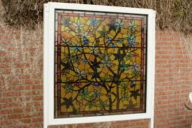 transpa window 1 with stained glass print