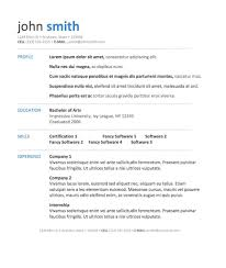 Standard Resume Resume Template Standard Resume Template Microsoft Word Free Ms 5