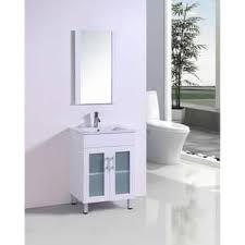 modern white bathroom cabinets. belvedere 24-inch modern white bathroom vanity with ceramic countertop cabinets