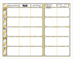 Lesson Plans Formats Elementary Sample Weekly Lesson Plan 7 Documents In Word Excel Pdf