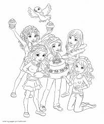 Small Picture Lego Friends coloring pages on a boat