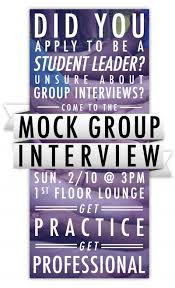 student leadership mock interview poster hh creates filed