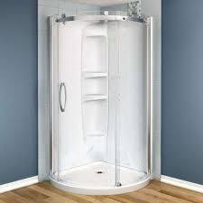 acrylic corner round shower