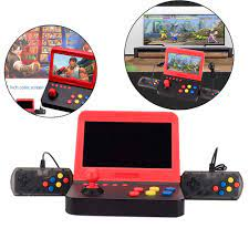 HD 7 inç geniş ekran Mini taşınabilir Arcade elde kullanılır oyun konsolu  GBA için 3000 Arcade oyun in 1 ev oyun konsolu|El Oyunları