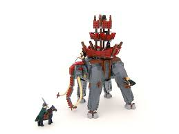 Lego Lord Of The Rings Designs Lotr Oliphant Lego Lego Castle Lego Super Heroes