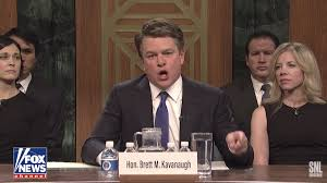watch matt damon plays angry kavanaugh on saay night live season opener s