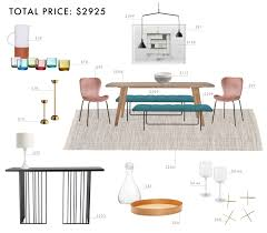 colorful modern dining room. Emily Henderson Budget Room Design Colorful Mid Century Modern Dining Under 3000 A