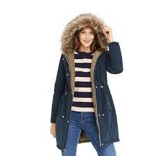 debenhams oasis coats london women navy and khaki remi reversible parka