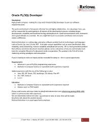 Download Pl Sql Developer Resume