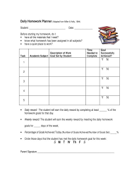Student Daily Planner With Subjects 9 Homework Planner Samples And Templates Pdf Word
