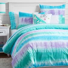 reef blue and purple tie dye duvet cover and sham