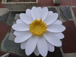 Daisy Paper Flower Large Paper Daisy Extra Large Paper Flower And By