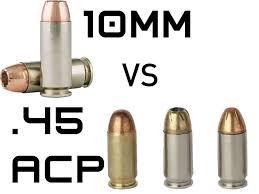 10mm Vs 45 Acp Battle Of The Big Bore Bullets Alien Gear