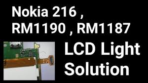 Nokia 216 Display Light Solution Nokia 216 Rm1187 Rm1190 Display Light Solution