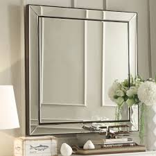Brinkley Dark Brown Trim Mirrored Frame Square Accent Wall Mirror by  iNSPIRE Q Bold - Free Shipping Today - Overstock.com - 16796047