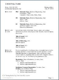 Cv Template Doc Download Resume Template Doc Free Download Resume Delectable Resume Doc