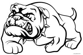 Bulldog Coloring Sheet Georgia Bulldogs Coloring Pages Printable Dog