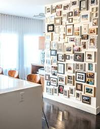 wall framing ideas photo collage frame ideas hall contemporary with white high gloss kitchen island photo wall framing
