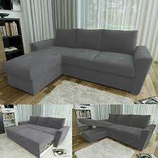 chelsea l shape corner sofa bed with