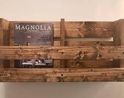 double magazine rack rustic wall mounted wood mack menu holder storage book wood magazine rack wall r95 rack