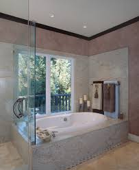 bronze towel rack bathroom traditional with floor tile over sized bathtub recessed lighting