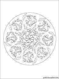 Mandala Apen Gratis Kleurplaten